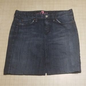 7 For All Mankind Denim Pencil Skirt Size 29